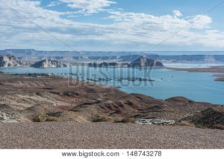 View of Lake Powell in Glen Canyon National Recreation Area, Arizona