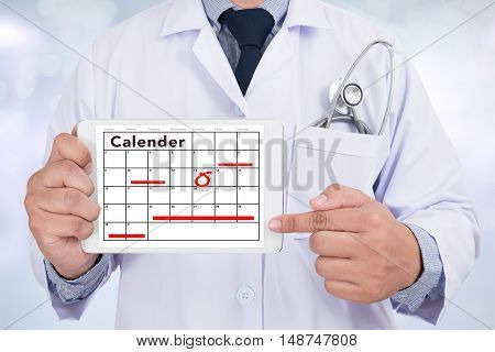 Calender Remind Health Check Concept