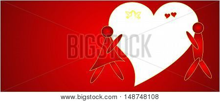 red abstract background of amorous motifs suitable as a container or background