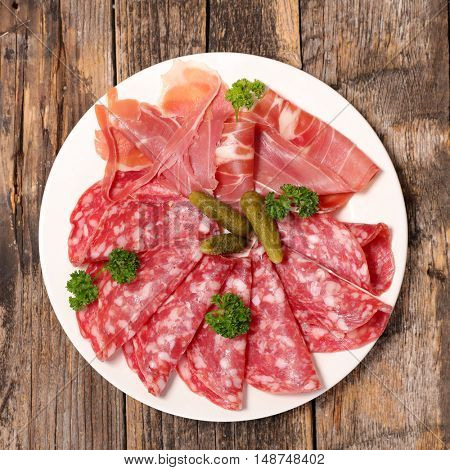 salami and cured ham