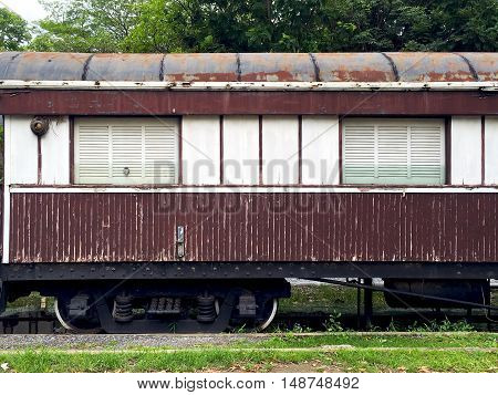 Vintage Wooden Train Railway Transportation Elevation