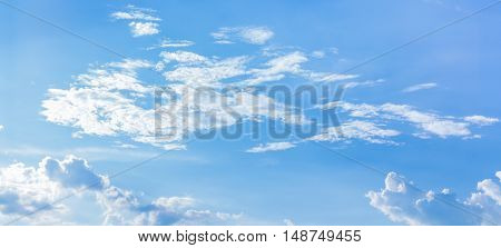 natural background of the blue sky with clouds. You can apply for sky background, sky backdrop, sky wallpaper, sky with text and everything about sky background concept.