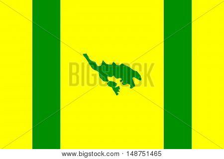 Flag of Isla Culebra (Snake Island) is an island-municipality of Puerto Rico United States