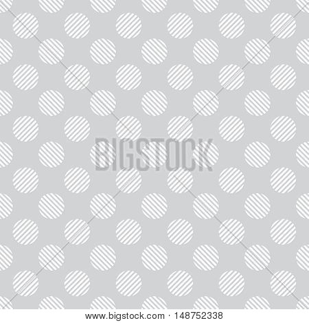 Vector seamless pattern. Abstract wrapping background. Classical simple geometric texture. Regularly repeating striped circles. Graphical design element