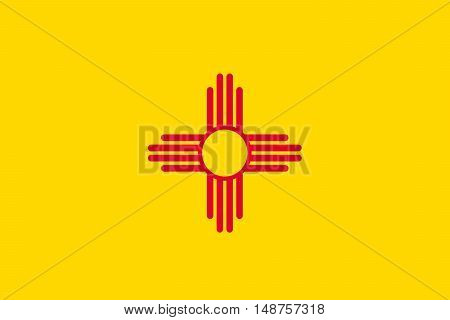 Flag of New Mexico is a state of United States