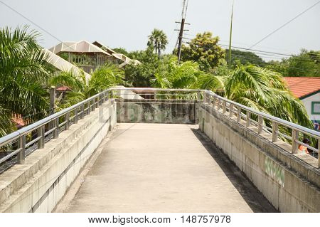 close up street overpass for pedestrians in thailand
