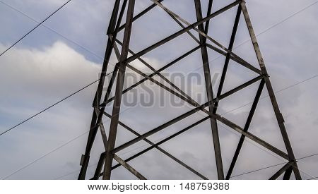 Power line, electric lines, electricty, power grid, high voltage, iron pole