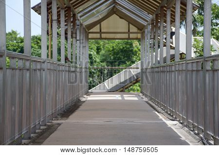 close up street overpass for pedestrians in thailand