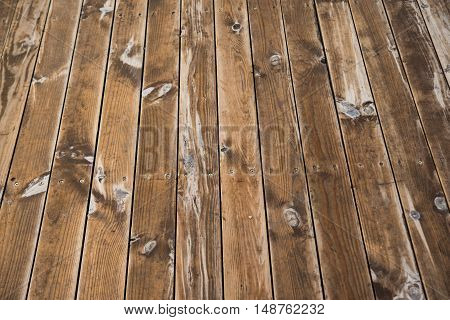 background of the old wooden planks horizontal, line