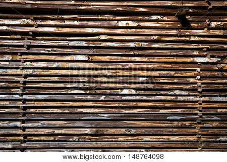 wooden boards stack as natural brown background
