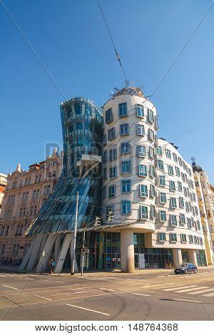 Prague, Czech Republic, September 20, 2011: Dancing House - Modern Building Designed By Vlado Miluni