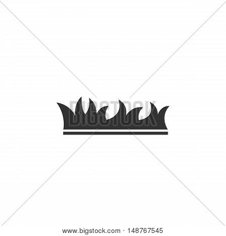 Grass Icon isolated on a white background. Grass vector logo - stock vector