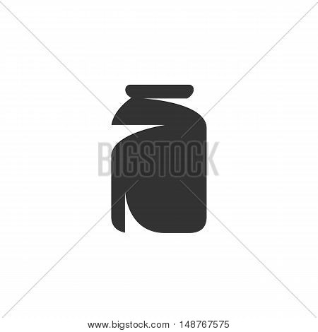 Jar Icon isolated on a white background. Jar vector Logo - stock vector