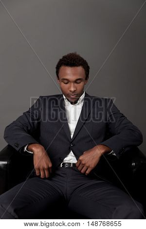 Serious African Man Portrait