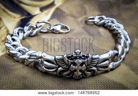 Men's Bracelet With A Cross