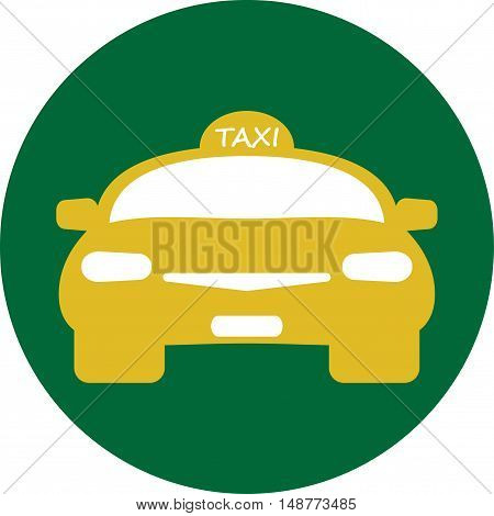 Flat design of Taxi car Vector Illustration