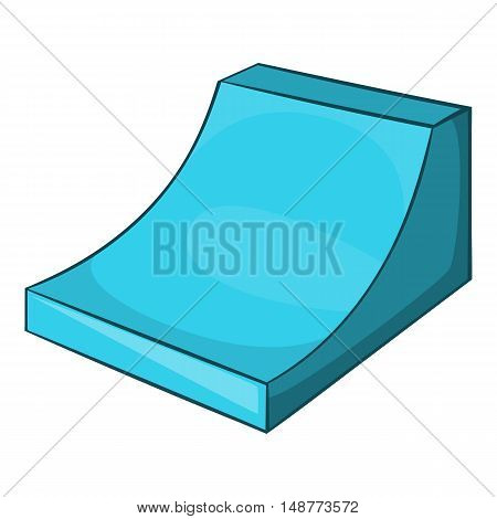 Snow half pipe for freestyle icon in cartoon style isolated on white background vector illustration