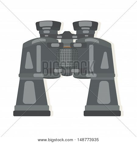 Binoculars are rubberized with zoom. Vector illustration.