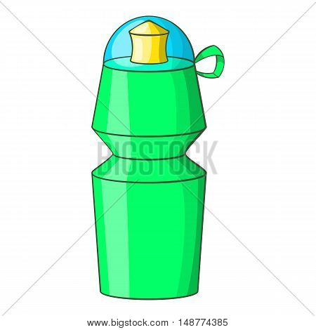 Sports water bottle icon in cartoon style isolated on white background vector illustration