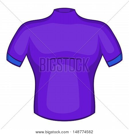 Cycling shirt icon in cartoon style isolated on white background vector illustration