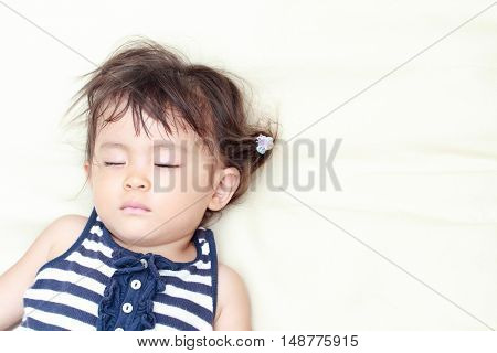 sleeping small Japanese girl (1 year old)