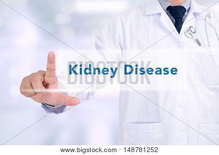 Medicine doctor hand working Kidney Disease doctors work hard