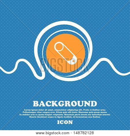 Pushpin Icon Sign. Blue And White Abstract Background Flecked With Space For Text And Your Design. V