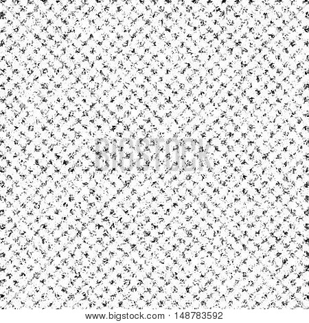 Black and white speckled pattern. Mottled monochrome seamless vector pattern.