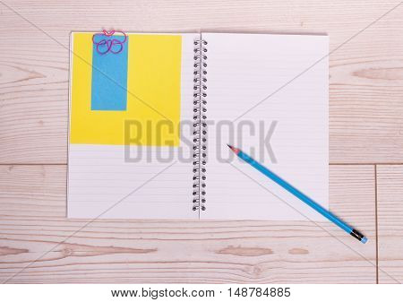 Notebook With Pencil And Note Paper
