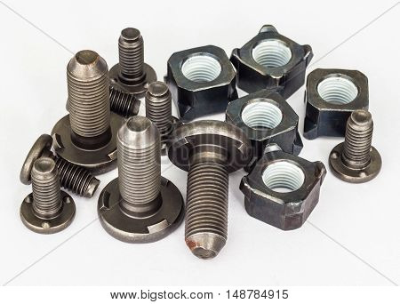 Special bolts,nut at line production automotive part.
