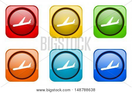 arrivals colorful web icons