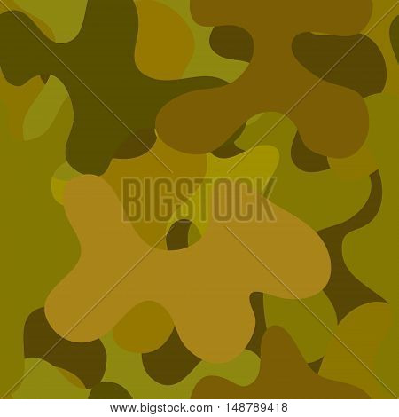 abstract vector chaotic spotted seamless pattern - green and brown