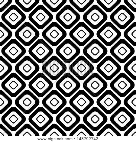 Seamless Vector Black And White Pattern