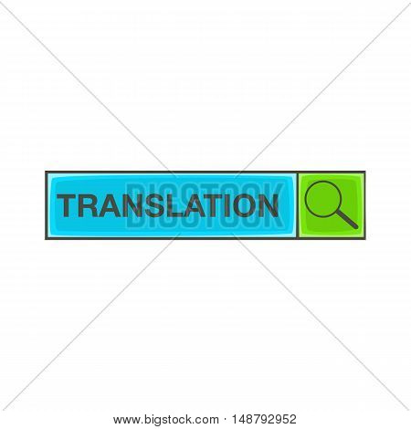 Search translation icon in cartoon style isolated on white background vector illustration