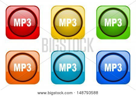 mp3 colorful web icons