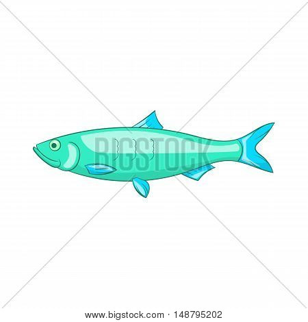 Baltic herring icon in cartoon style isolated on white background vector illustration