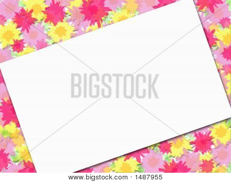 Flowery Background With Message