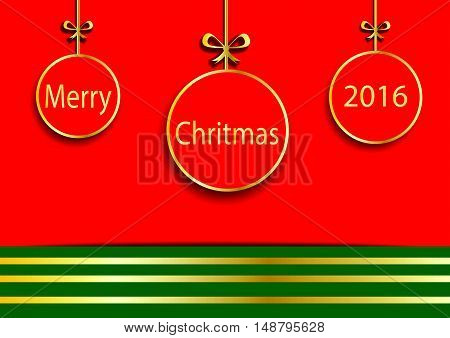 Christmas ball merry christmas 2016 and happy new year.