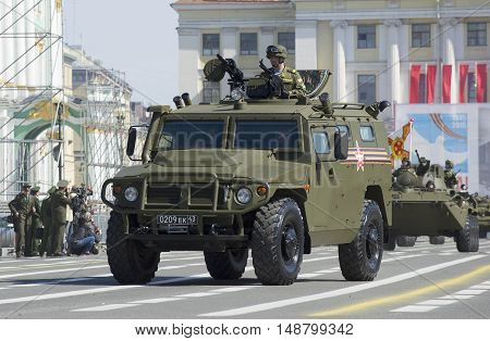SAINT PETERSBURG, RUSSIA - MAY 05, 2015: Armored car