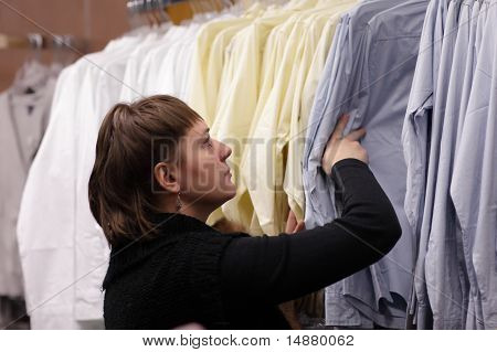 Woman Chooses Blouse