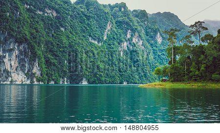 Cheo Lan Lake in Thailand. Low Season.