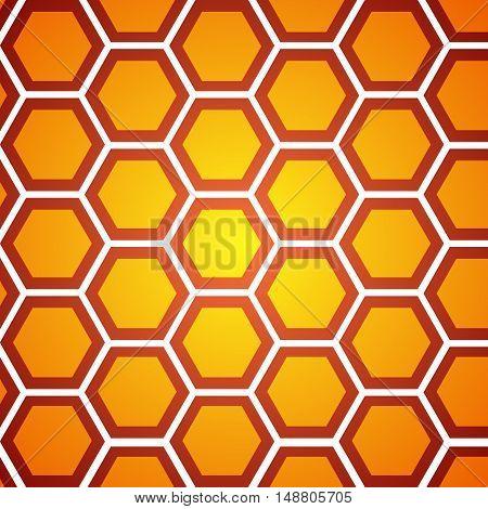 honeycomb orange background, vector illustration Template for design
