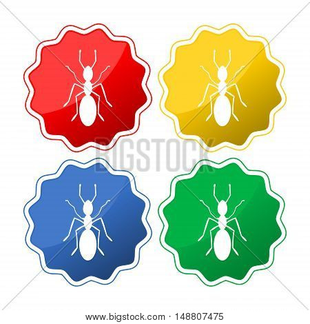 Ant icon. Ant sign set on white background