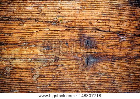 Rough worn wooden plank texture as background