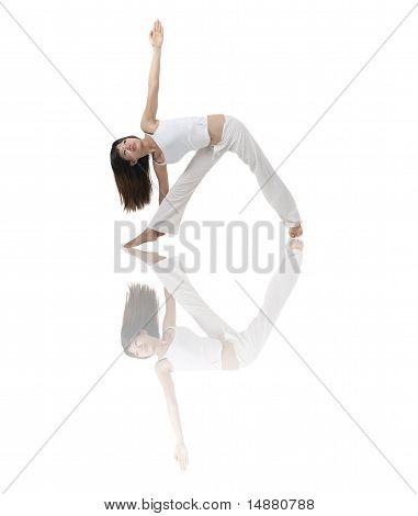 Asian Girl In Yoga