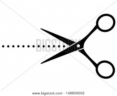 Black Cutting Scissors With Points
