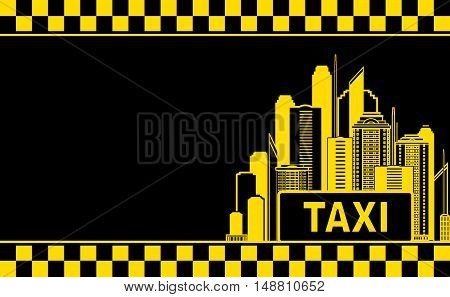 Business Card With Taxi And Night City
