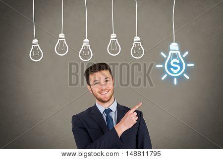 Finance Businessman New Idea Concept Working Conceptual Business Concept