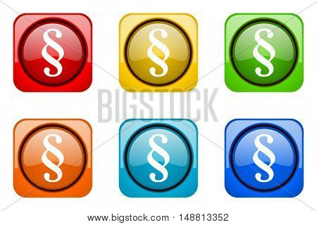 paragraph colorful web icons