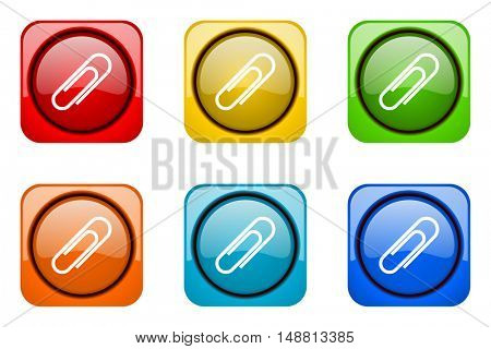 paperclip colorful web icons